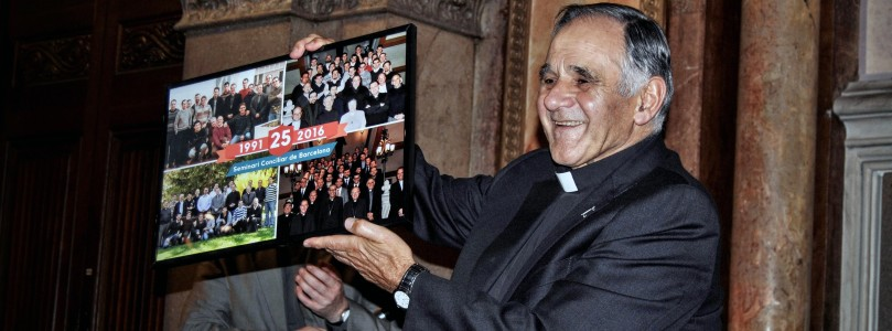 Celebració dels 25 anys de formador de Mn. Josep Serra i comiat